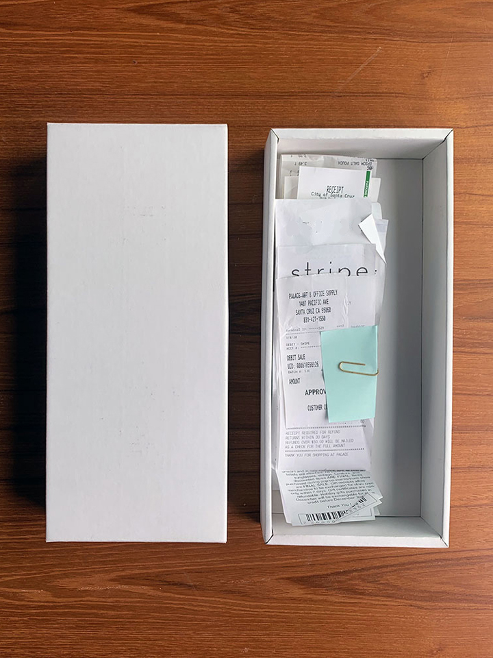 receipts box 2