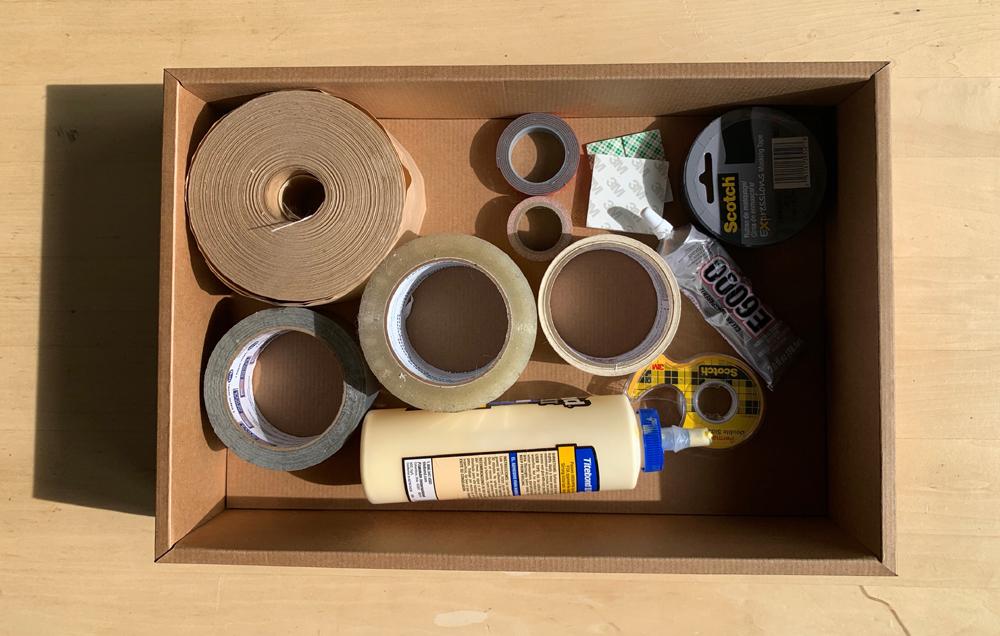 tape and glue storage